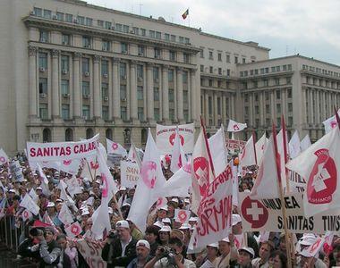 Angajații din Sănătate protestează joi în fața Guvernului