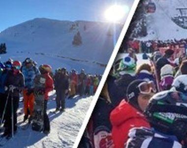 VIDEO-După terminarea vacanțelor, e aglomerație în stațiunile de munte