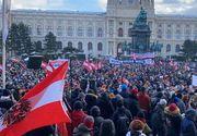 Viena: Mii de oameni au participat la un marș de protest contra restricţiilor din pandemie