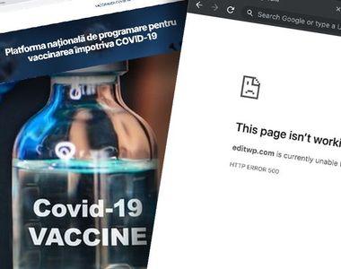 VIDEO -Vaccinare anti-COVID, etapa a doua. Platforma online s-a blocat
