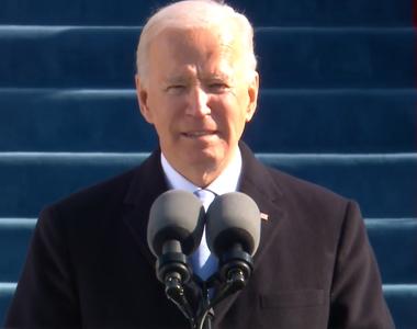 """Primul discurs al lui Biden în calitate de preşedinte: """"Aceasta este ziua Americii, a..."""