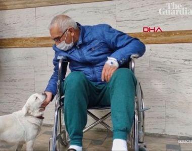 VIDEO-Cățelușa a devenit celebră după ce și-a păzit stăpânul la spital