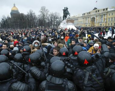 VIDEO - Proteste violente în Rusia, la minus 50 de grade, în numele lui Navalnîi