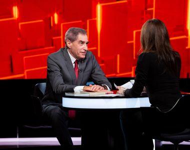 """Ediția de aseară a emisiunii """"40 de întrebări cu Denise Rifai"""", cu Petre Roman invitat,..."""