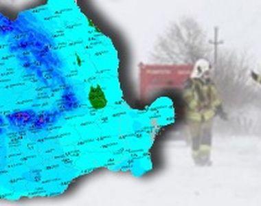 VIDEO - Viscol în sud-estul țării. Mii de oameni afectați de vremea rea