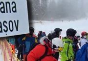 VIDEO - Poiana Brașov,luată cu asalt de turiști mai ceva ca în weekend