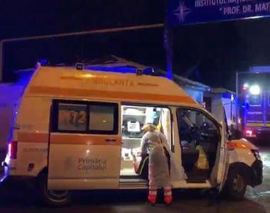 """Incendiu Institutul """"Matei Balş"""": Trei dintre pacienţii transferaţi la alte spitale..."""
