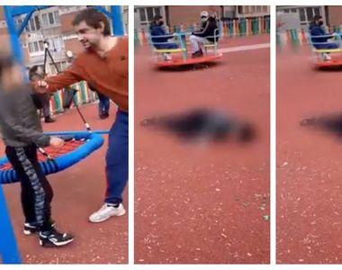 Dosar penal pentru bărbatul care a trântit un copil la pământ într-un loc de joacă