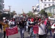 Lovitură de stat în Myanmar. Proteste masive, unde mai multe persoane au fost rănite