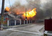 Incendiu violent la o școală în care se aflau elevi
