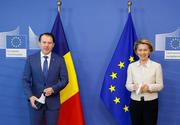 Premierul Florin Cîțu, întâlnire cu Ursula von der Leyen la Bruxelles