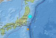Un cutremur puternic, de peste 7 grade, a zguduit Japonia, în largul coastei Fukushima