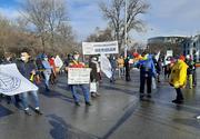 Protest al ceferiştilor în faţa Ministerului Transporturilor, nemulţumiţi de măsurile bugetare