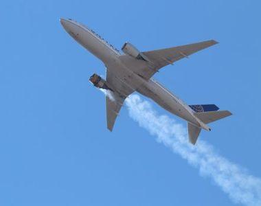 Incident șocant în Denver: Bucăţi din carcasa motorului unui avion Boeing au căzut...
