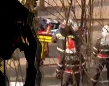 VIDEO - Eforturi pentru salvarea unui tânăr care a amenințat că se sinucide
