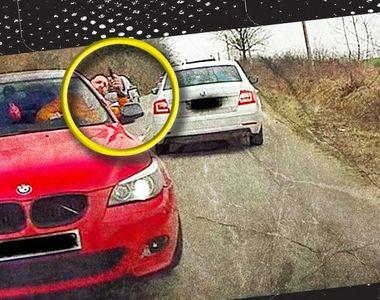 VIDEO-Moment șocant! Și-a făcut loc în trafic cu pistolul scos pe geam