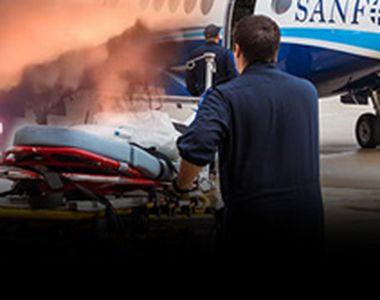 VIDEO -Pacienți cu arsuri grave, transferați din țară pentru tratament
