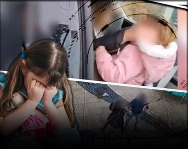 VIDEO - O mamă își abuzează fetița în fața tatălui venit s-o viziteze