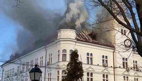 Detalii de la incendiul Palatului Administrativ din Suceava. Ce au transmis autoritățile