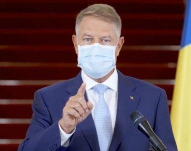 """Iohannis: """"Cifrele din ultima săptămână privind evoluţia pandemiei sunt îngrijorătoare...."""