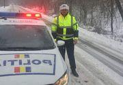 Circulaţia îngreunată din cauza zăpezii pe A1, A3 și mai multe drumuri naționale