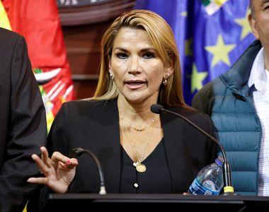 Fosta preşedintă interimară a Boliviei a fost arestată