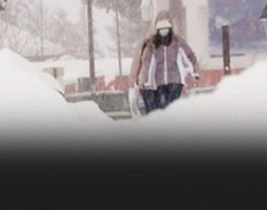 VIDEO - Iarna se întoarce iar cu zăpadă chiar la începutul primăverii