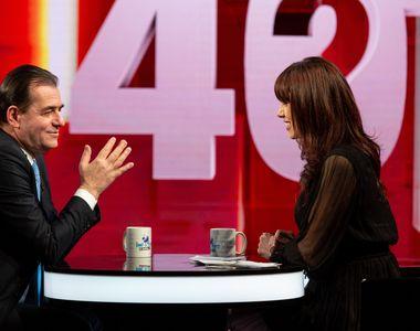 """Ludovic Orban a vorbit aseară, la """"40 de întrebări cu Denise Rifai"""" despre încercările..."""