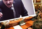 VIDEO-Scandal suburban în Parlamentul României. Deputații s-au înjurat