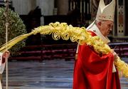 Papa Francisc a oficiat slujba de Florii la Bazilica Sfântul Petru