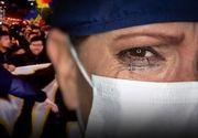 VIDEO - Manifestanții au intrat în curțile spitalelor și au jignit medicii