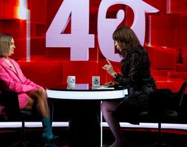 """Alexandra Stan a vorbit aseară, la """"40 de întrebări cu Denise Rifai"""", despre..."""