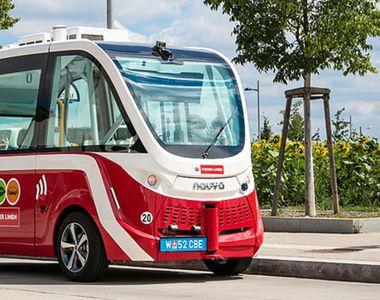 Autobuze fără șofer pe străzile unui mare oraș din România