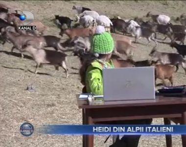 VIDEO - Heidi din Italia. O copilă de 10 ani, exact ca scoasă din poveste