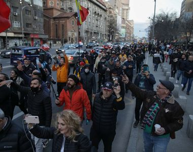 Arestări după protestele violente din Capitală