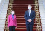 GALERIE FOTO. Klaus Iohannis a primit-o la Cotroceni pe Maia Sandu, președintele Republicii Moldova