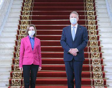 GALERIE FOTO. Klaus Iohannis a primit-o la Cotroceni pe Maia Sandu, președintele...