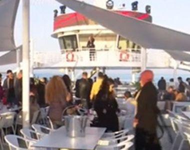 VIDEO  Petreceri de lux pe un iaht din Mamaia