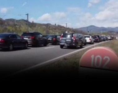 VIDEO| În coloană spre munte. Aglomerație pe șosele
