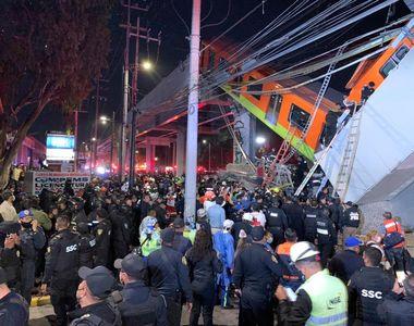 Momentul șocant în care metroul suspendat se prăbușește în Mexico City. Cel puțin 20 de...