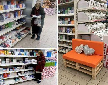 Povestea plină de emoție a unei bătrâne. Mergea zilnic la supermarket pentru a citi cărți