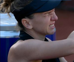 simona halep accidentata tenis Roma