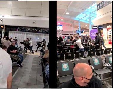 VIDEO | Bătaie generală pe aeroportul din Londra, într-un grup de români