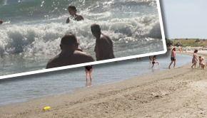 VIDEO - Pericol de înec mai mare în Mamaia, după ce au fost lărgite plajele