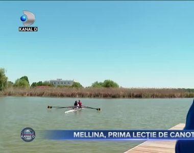 VIDEO -Războinica Mellina a luat prima lecție de canotaj după Survivor