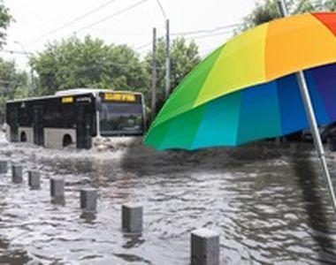VIDEO - Străzi scufundate sub apă chiar la marginea Capitalei României