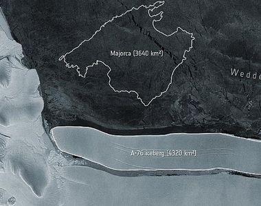 Cel mai mare aisberg din lume s-a desprins din Antarctica. Este de 20 de ori mai mare...
