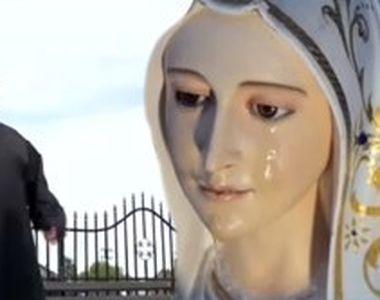 """VIDEO - Minune în județul Timiș? O statuie a Maicii Domnului """"plânge"""" neîncetat"""