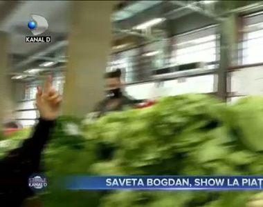 VIDEO -Cântăreața care s-a târguit în Piața Obor pentru cura cu legume