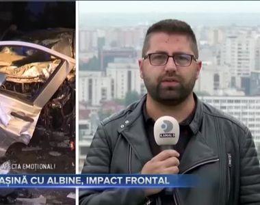 MAȘINĂ CU ALBINE, IMPACT FRONTAL